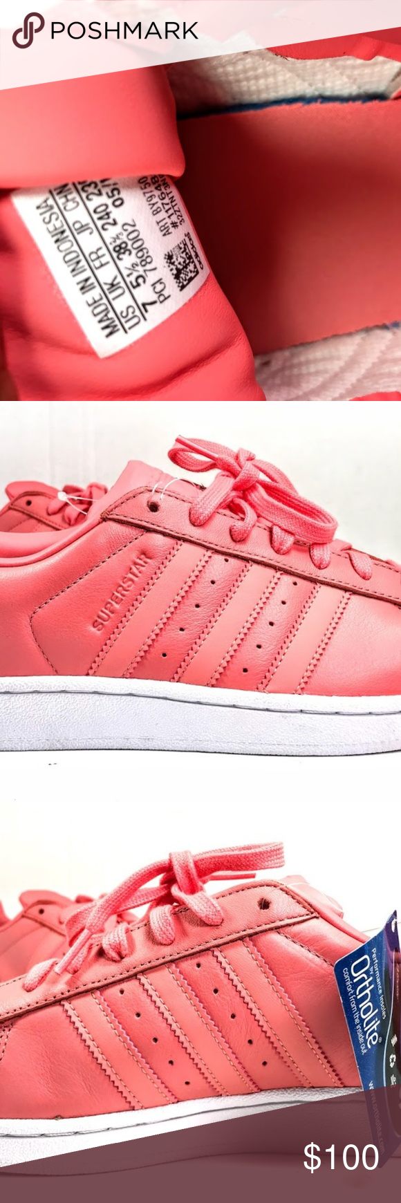 info for c650c bfd10 ADIDAS ORIGINALS SUPERSTAR metal toe rose pink 7 ADIDAS ORIGINALS SUPERSTAR  BY9750 METAL TOE ROSES WOMENS