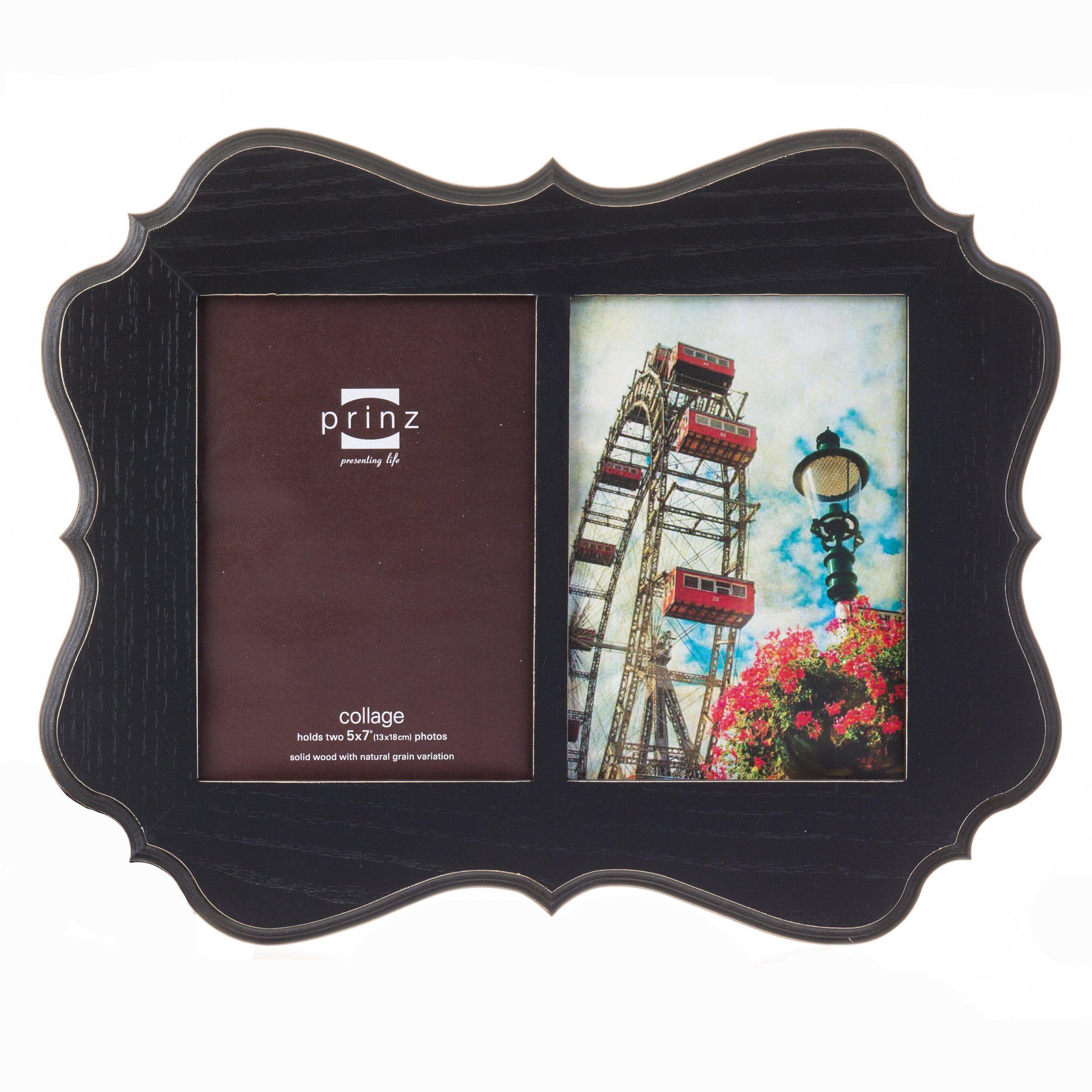 Prinz 2 Opening Annabelle Black Ashwood Veneer Wood Collage Frame 5