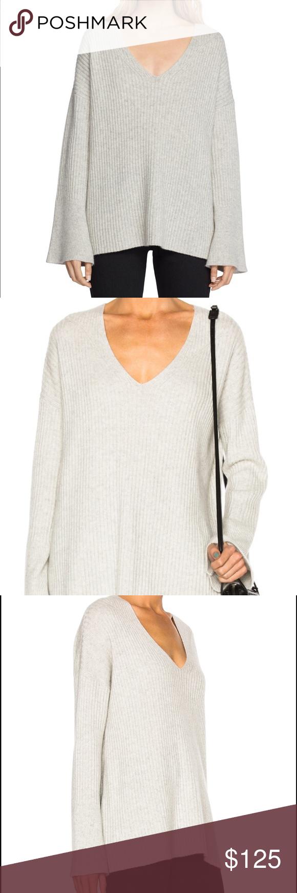 Rag & Bone Phyllis Grey Cashmere Sweater XXS