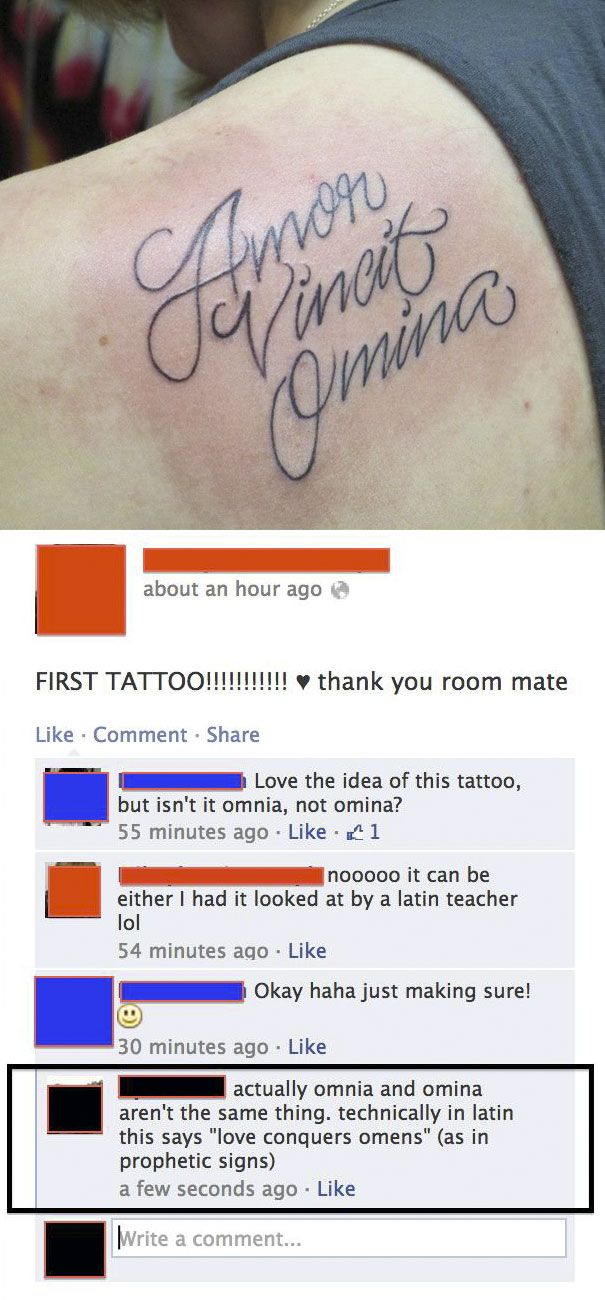 55 proud tattoo owners who posted pic of new tattoo with hilarious mistake