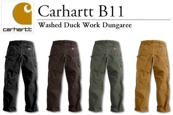 52ec690962 Carhartt - Style: B11 - Men's Washed Work Dungaree Pants Jeans ...