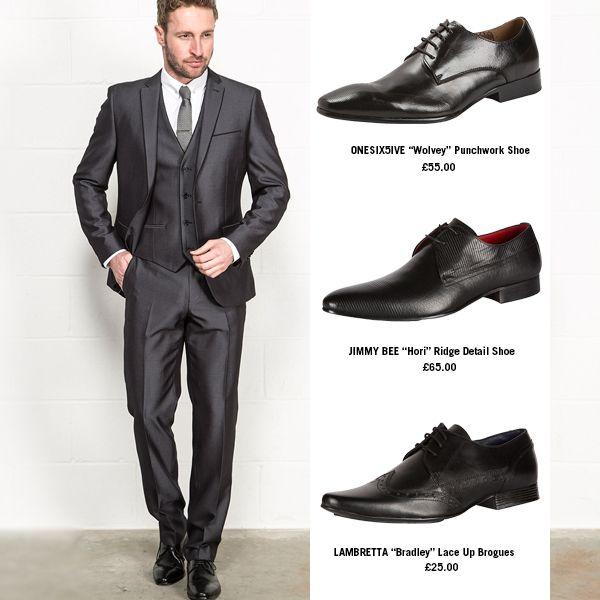 Black suit dress shoes