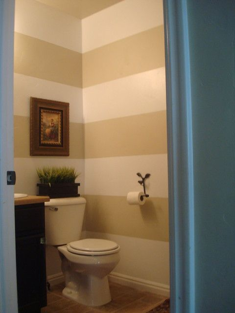 Captivating Horizontal Stripes   Traditional   Bathroom   Other Metro   Camie