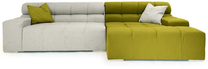 808 Home Cubix Cashmere Modern Modular Right Sectional Sofa