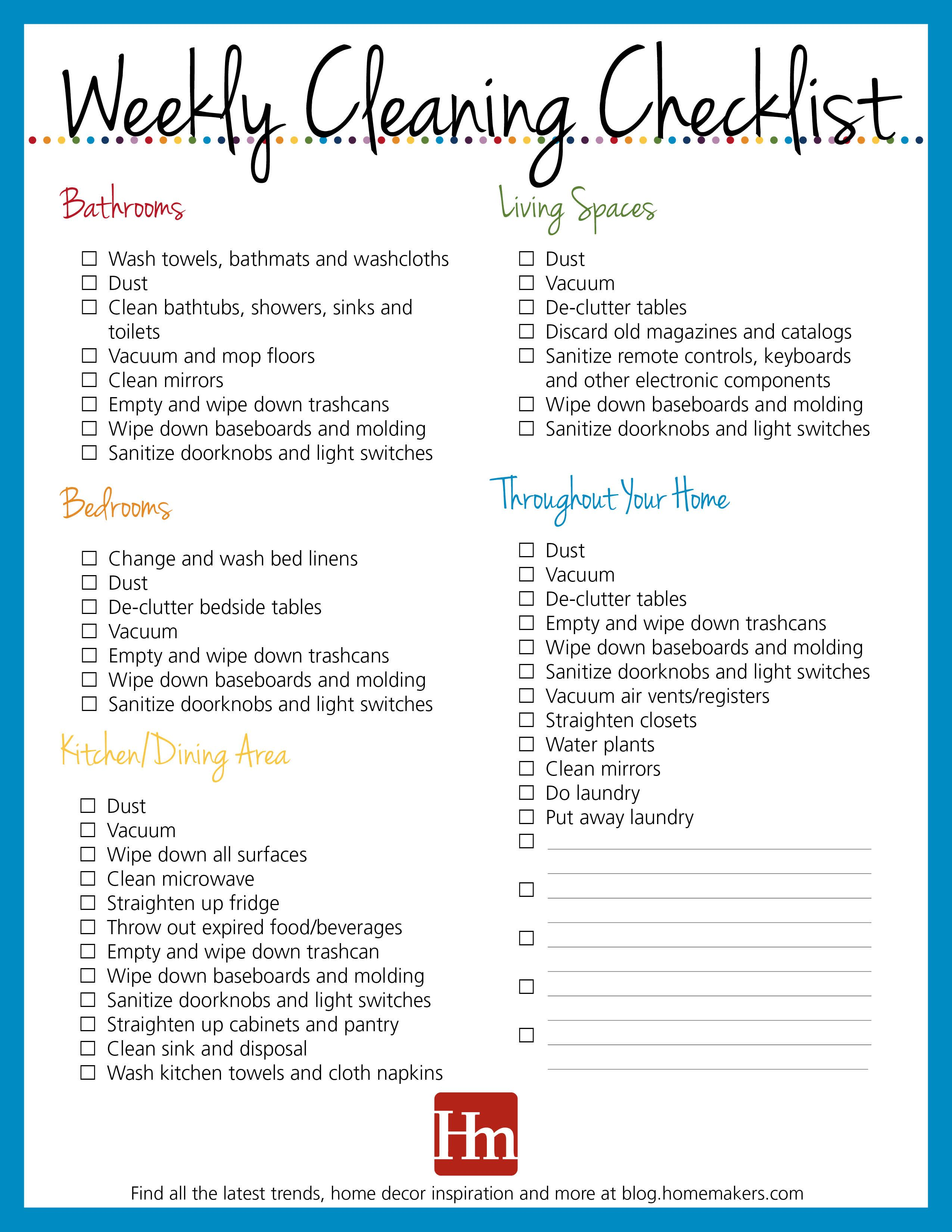 Free Printables! Daily, Weekly & Monthly Cleaning Schedule ...