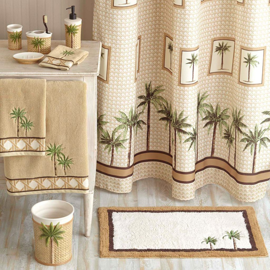 Lovely Palm Tree Bathroom Rug