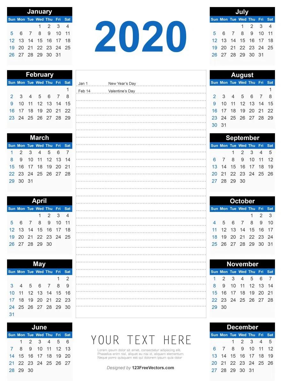 Free 2020 Printable Calendar 2017 Calendar Templates Calendar Template Blank Calendar Template