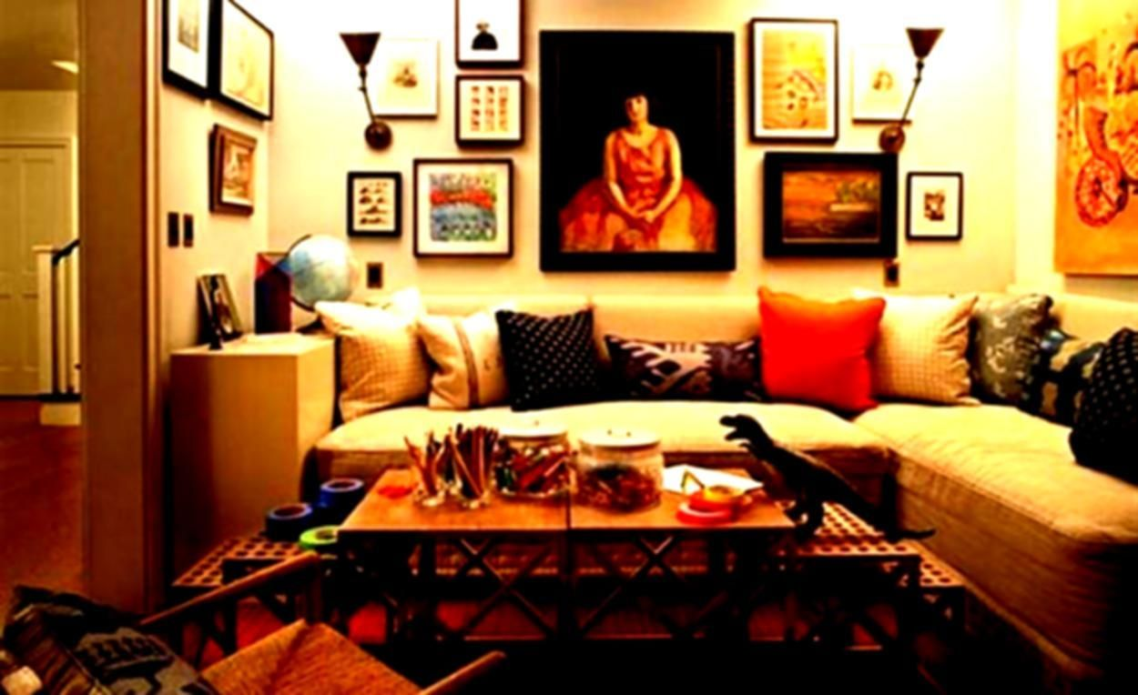 Image result for home decorating ideas living room walls | Living ...