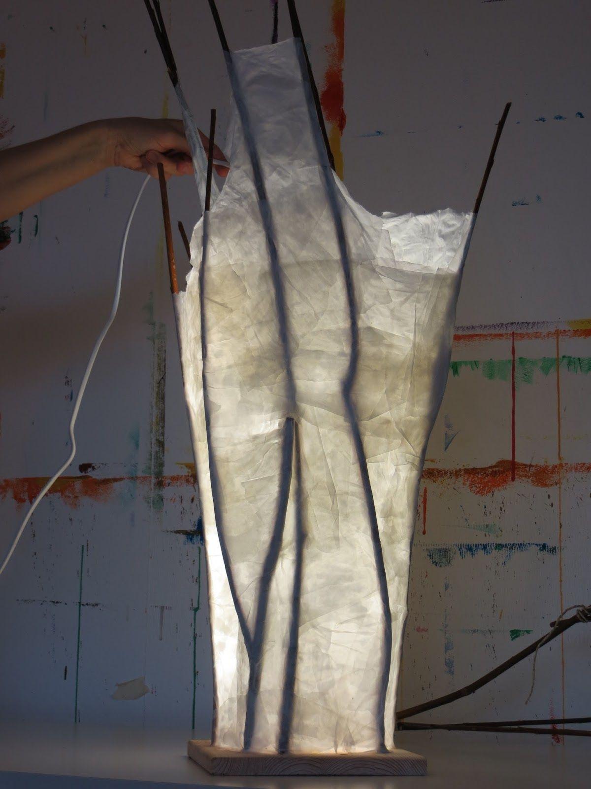 diy, lampe papier weiden, lampe selber basteln, papierlampe | papier