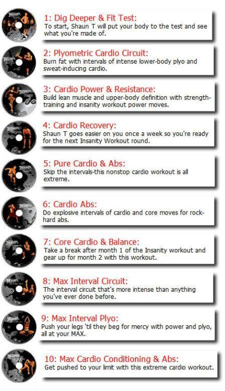 Insanity Workout Day 1 : insanity, workout, Shaun, Insanity, Workout, Schedule, Schedule,, Workout,