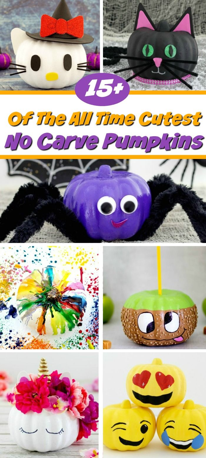 No Carve Pumpkins #pumpkindecorating