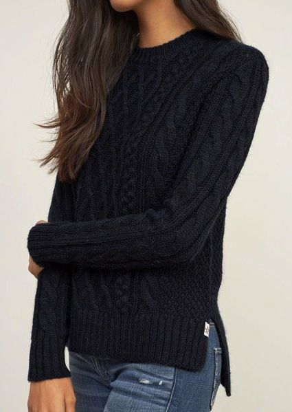 c3e3ee959d4 Blue navy knitted jersey blue denim jeans casual winter
