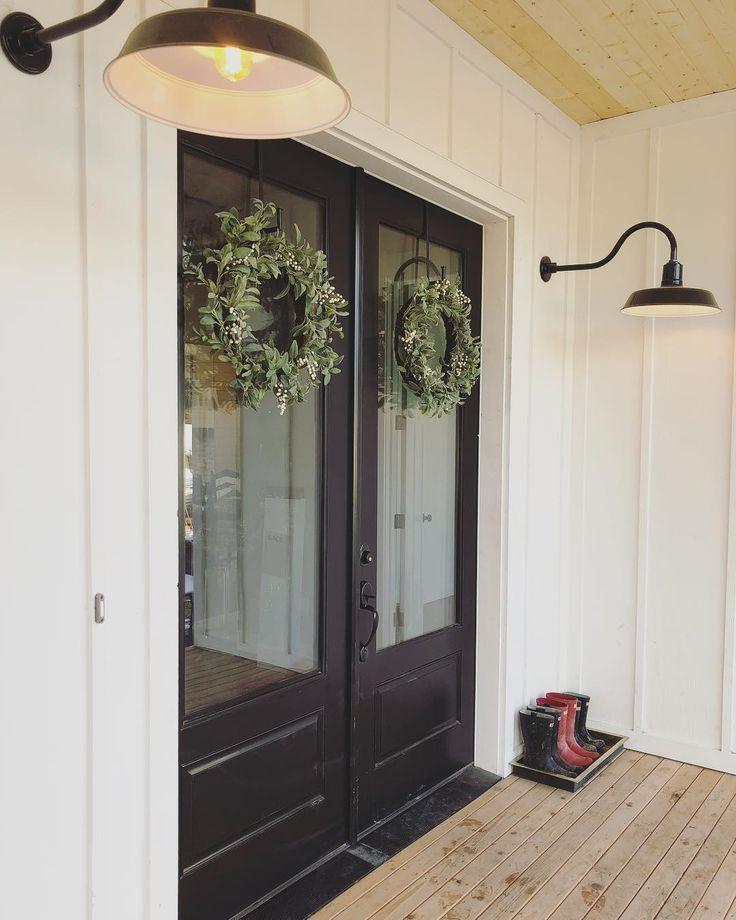 Double Doors And Wreaths