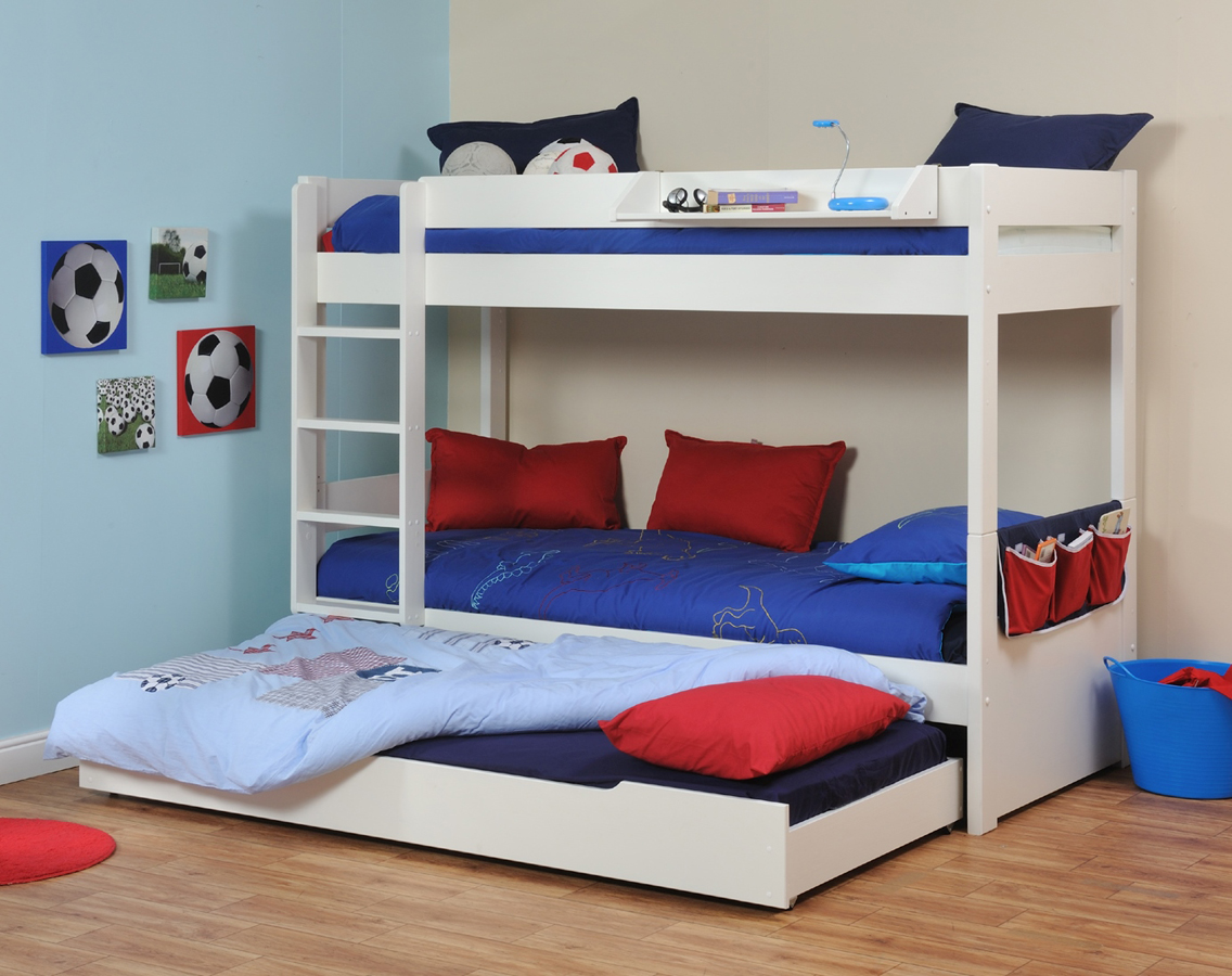 Custom loft bed ideas  triple bunk beds kura  Google Search  Bunk Bed w Pull Out