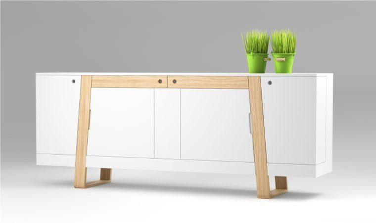 Buffet Scandinave Blanc Meubles A Usages Multiples Mobilier Design Mobilier De Salon