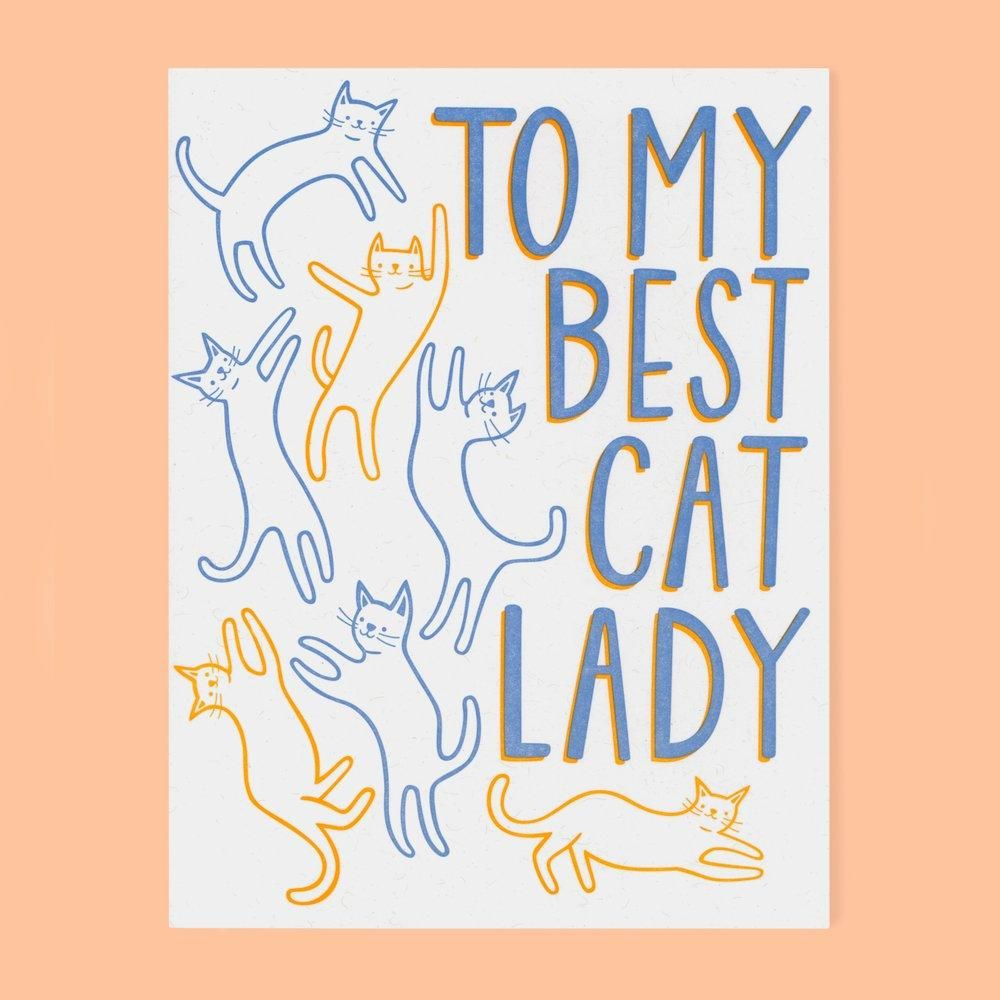 Cat Lady Card Cats, Cat lady, Cool cats