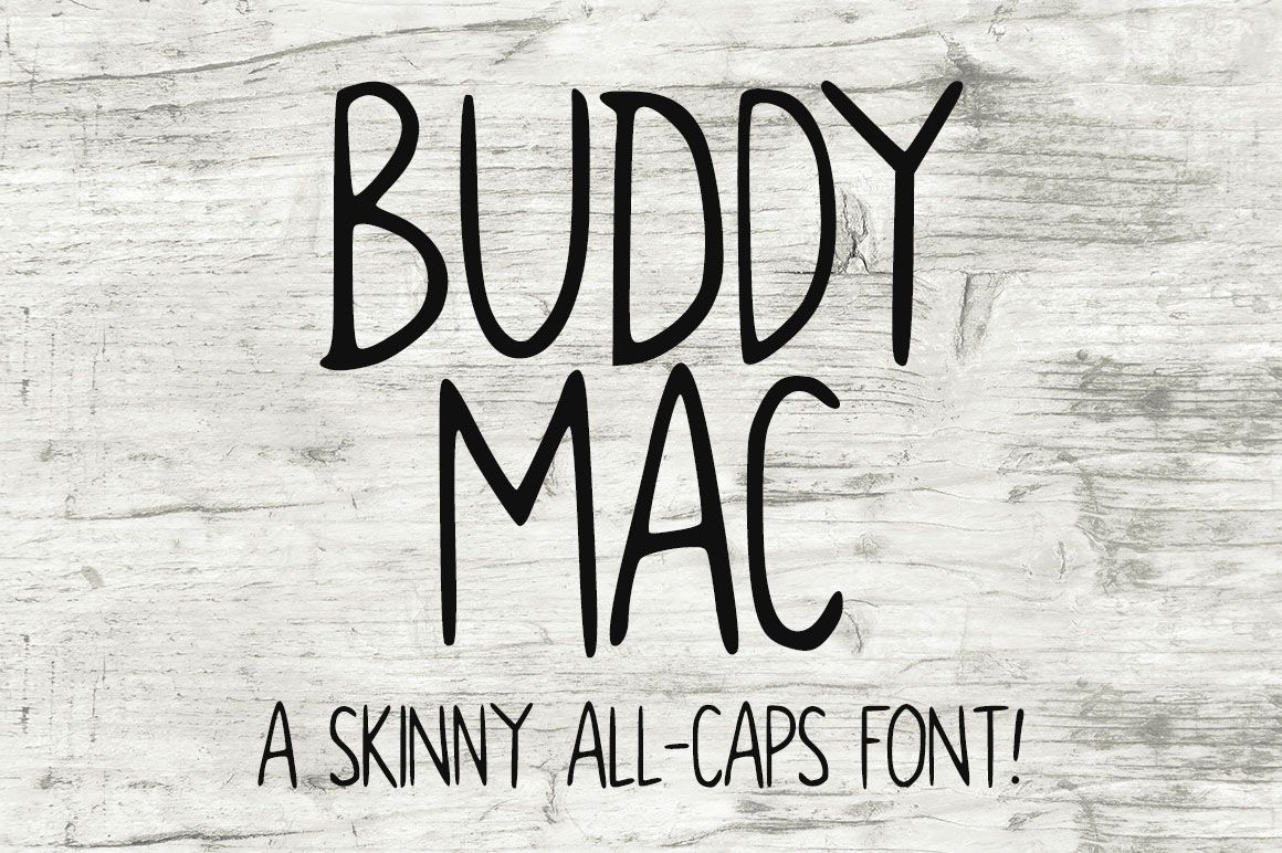 Buddy Mac is a FREE allcaps handwritten font. Caps font