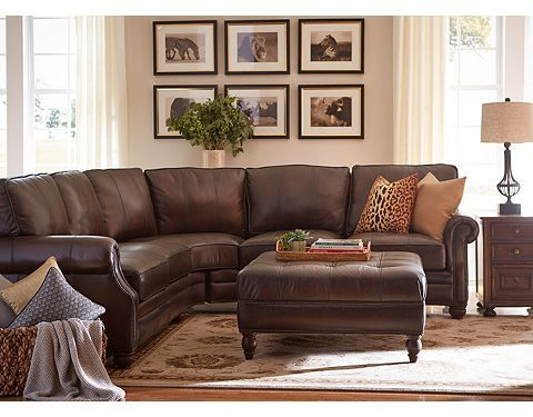 Rustic Brown Leather Couches