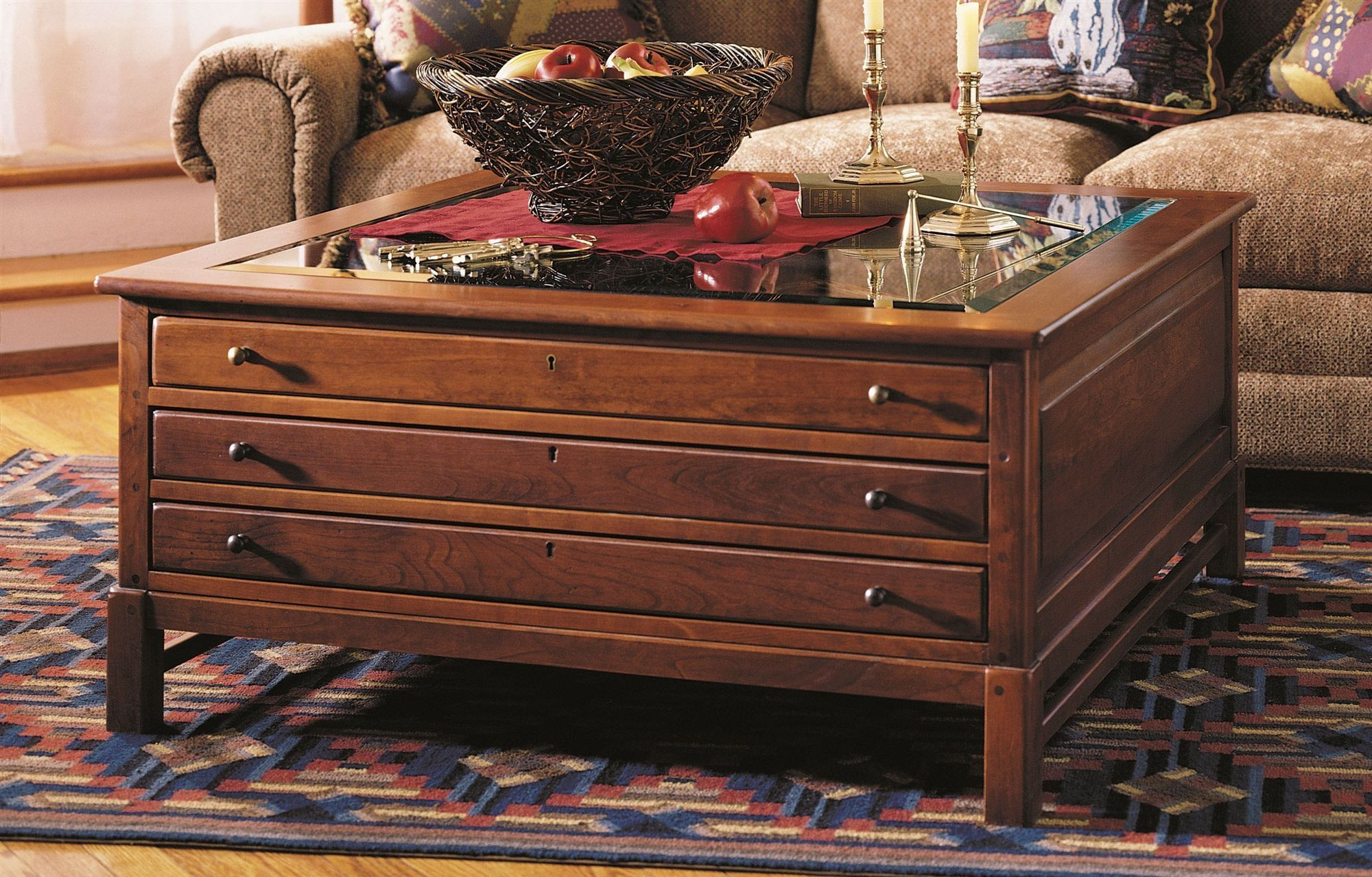 Photo Of Collector S Square Coffee Table W Gl Top Bob