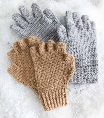 Sized for toddlers, children and adults, the design options in this book make it easy to crochet hand warmers with personal style. Choose from fingerless or full-coverage gloves and mitts, and add long or short cuffs in 8 fun looks. http://www.maggiescrochet.com/collections/new/products/hand-picked-gloves-mitts