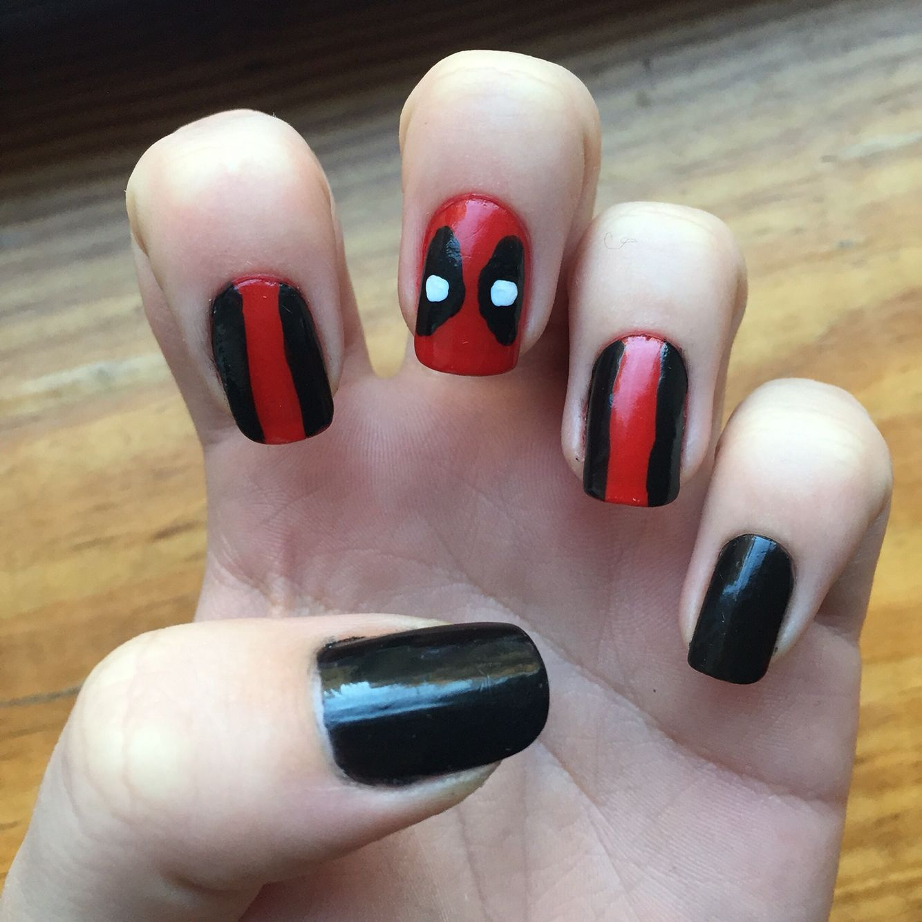 Deadpool nail art | Hair and Nails | Pinterest | Deadpool, Manicure ...