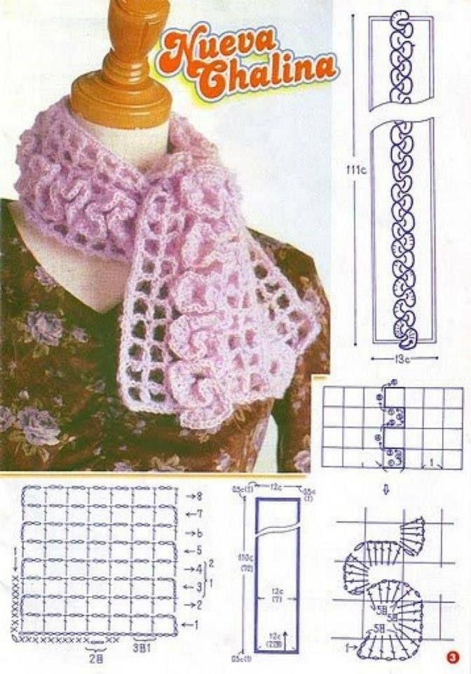 Häkelmuster Fundgrube Aufgehäkelte Rüschen Crochet Pinterest