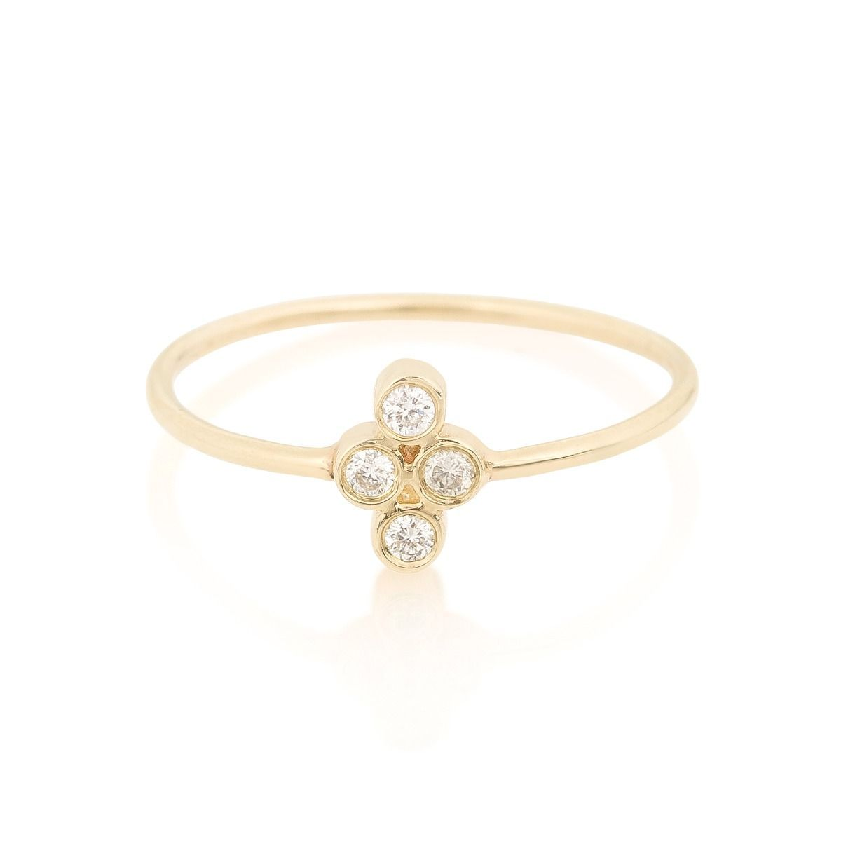 Zoë Chicco 14K Gold Diamond Quad Ring c802mgE