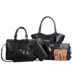 Rustic Charm 6 Piece Handbag Set - 6 Colors to Choose From