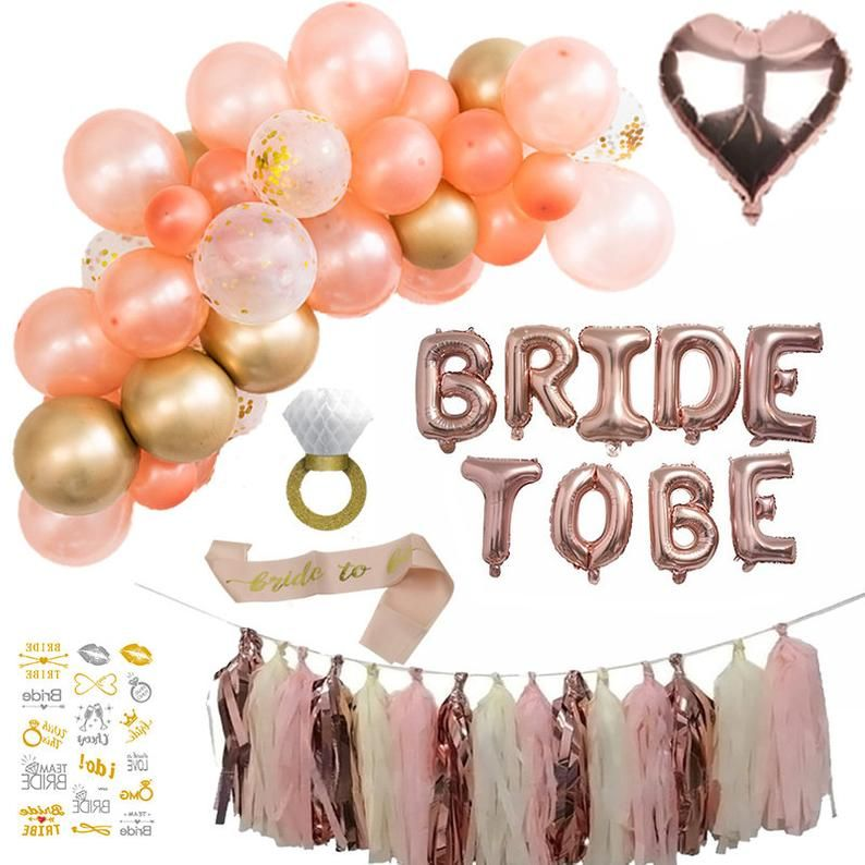 Bride Shower Decorations Balloon Garland Kit Bride To Be Balloon