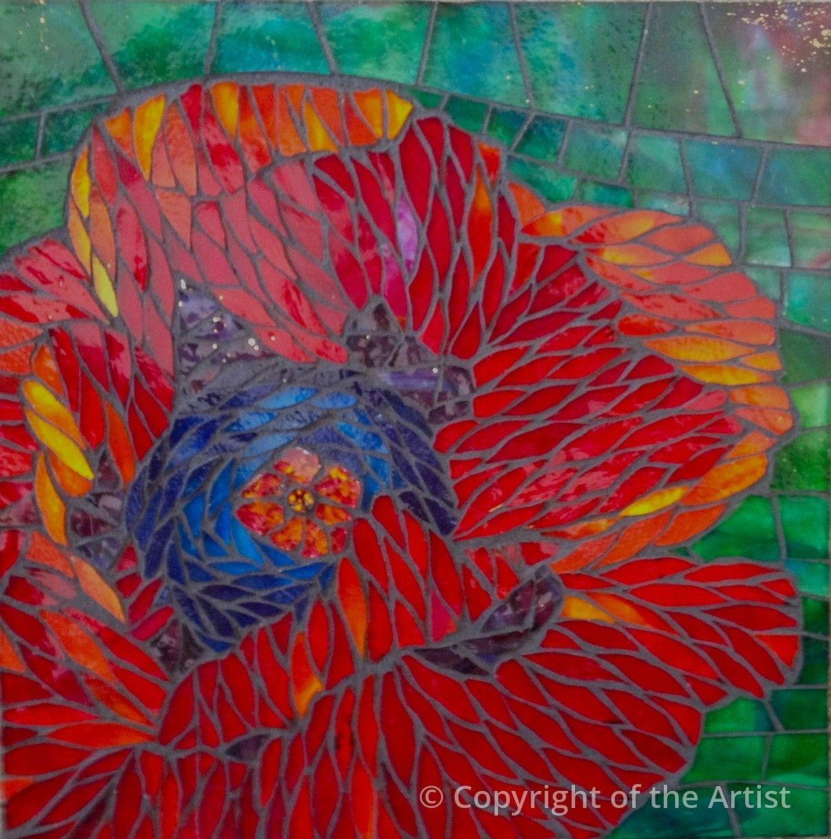 Red Poppy Jean Loney Maplestone Contemporary
