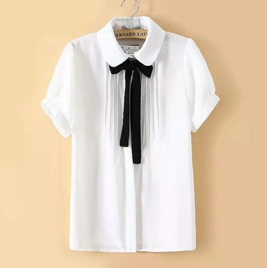 Summer Sweet Women Japanese Tops Blouse Doll Collar Short Sleeve Shirts T-Shirts