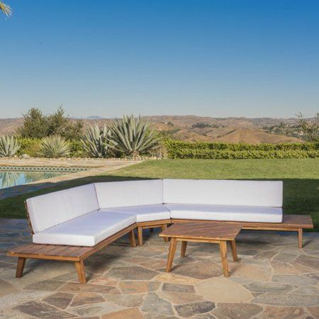 Union Rustic Grazian 4 Piece Sectional Set with Cushions ...