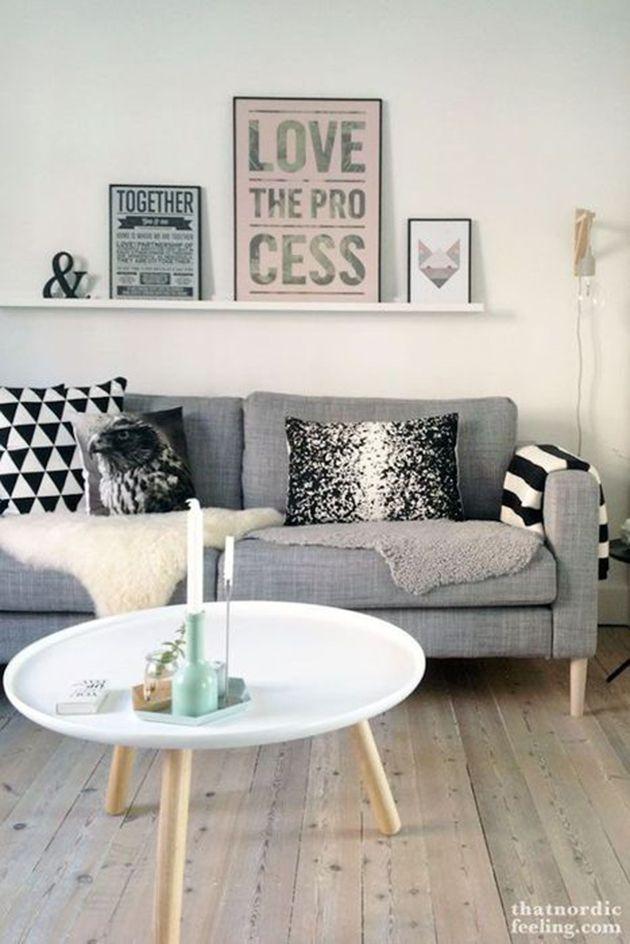 That nordic feeling with Prettypegs.com furniture legs Carl on IKEA's Karlstad sofa :-) #prettypegs #furniturelegs #diy #nordicdesign