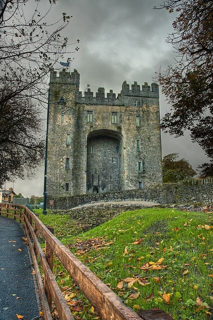 Shannon Ireland   I remember the cloudy day and green rolling hills for days.  Photo Cred: Bunratty Castle by MaugiArt, via Flickr