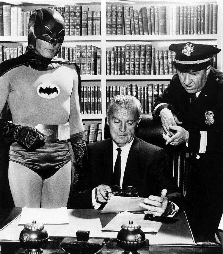 Adam West as Batman, Neil Hamilton as Commissioner Gordon and ...