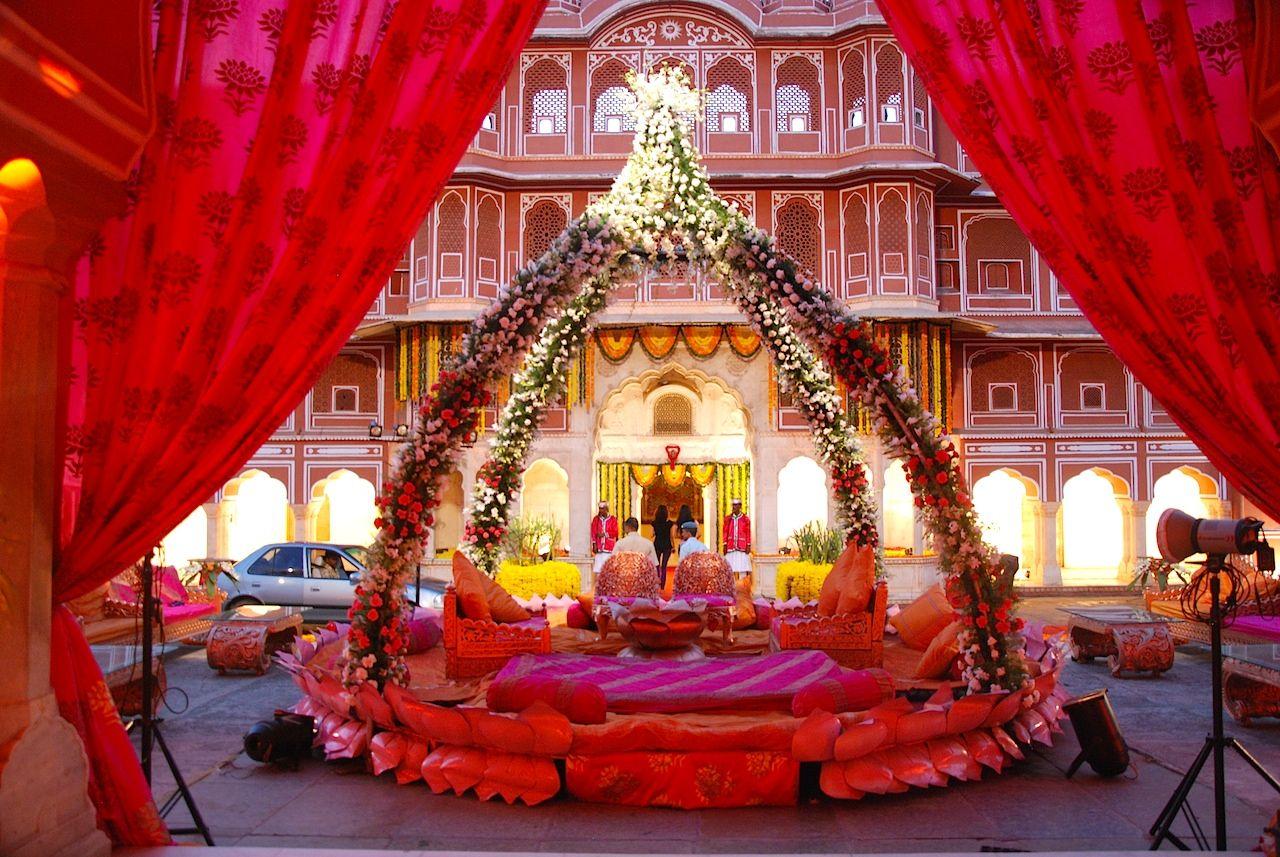 A wedding set up at city palace jaipur for Decor india jaipur