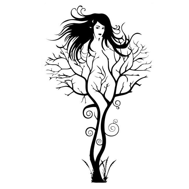 Popular Modern Creative Sexy Woman Tree Wall Sticker Quotes Home - Modern car decal sticker girl