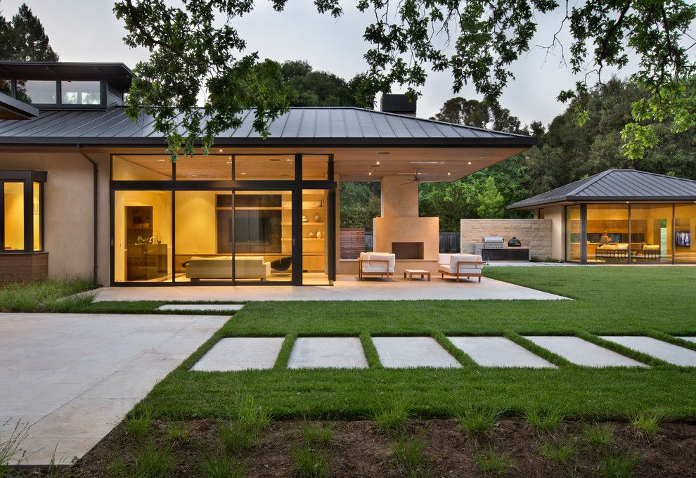 Metal Roof Patio Cover Designs Exterior Contemporary With