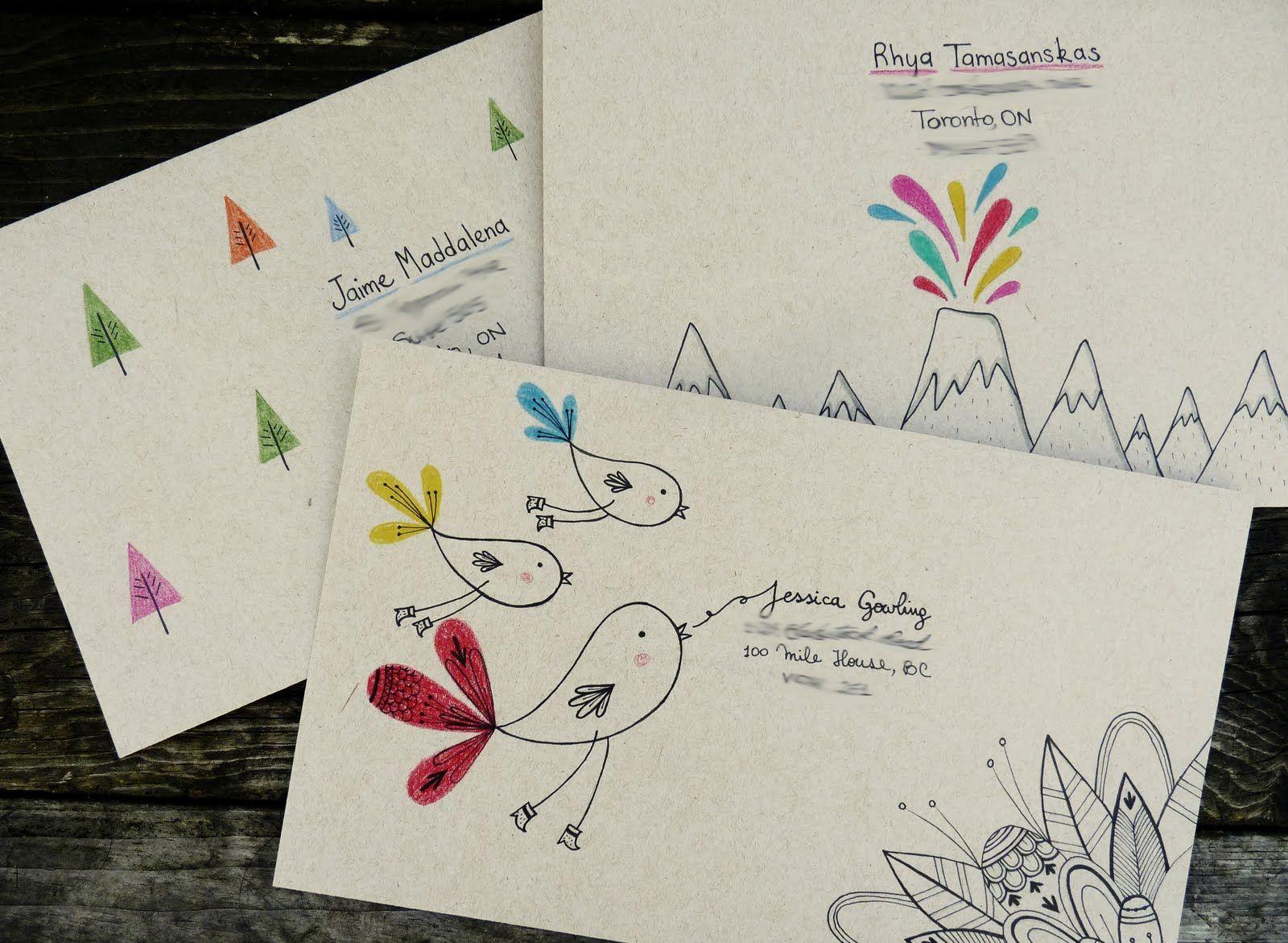 фотографий звезд оформляем почтовые открытки первой части