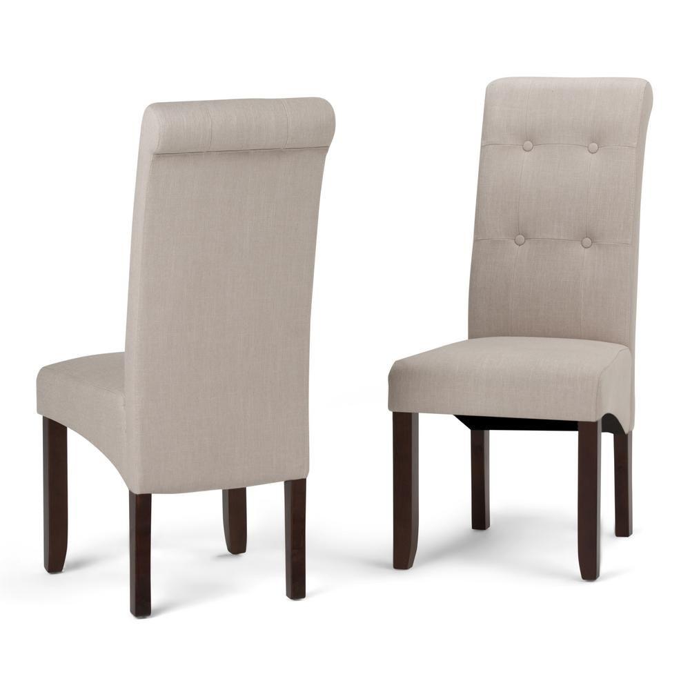 Simpli Home Cosmopolitan Natural Parsons Dining Chair Set Of 2 Dining Chairs Dining Chair Set Parsons Dining Chairs