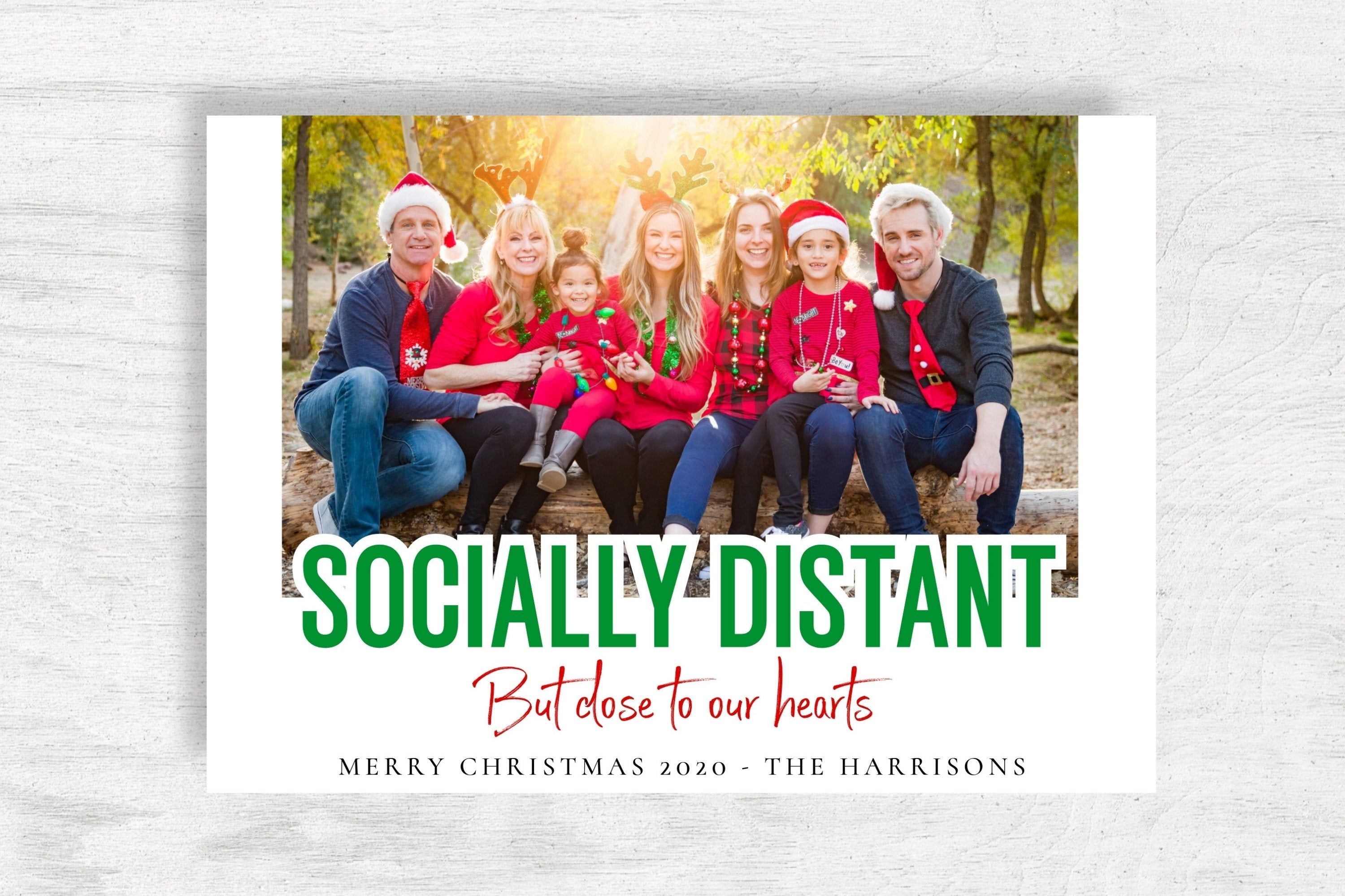 Photo Christmas Card 2020 Printable Christmas Card Template Etsy Christmas Card Template Christmas Photo Cards Christmas Photos