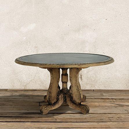 Cambrey 36 Round Coffee Table In Antique Oak