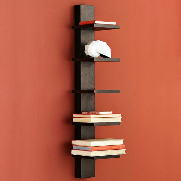 Narrow Wall Shelf Bookcase Display Shelf.Png - Decoist | Ideas