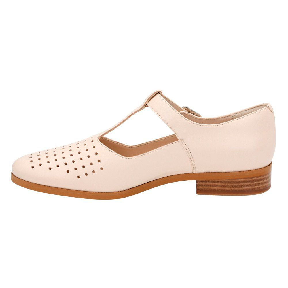 Clarks Womens Hotel Vibe T Strap ShoeNude Pink LeatherUS 10 M -- Check out  this great product. (This is an affiliate link and I receive a commission  for the ...