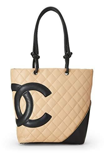 96700a2060c9 CHANEL Beige Quilted Calfskin Cambon Ligne Tote Small (Pre-Owned) in ...