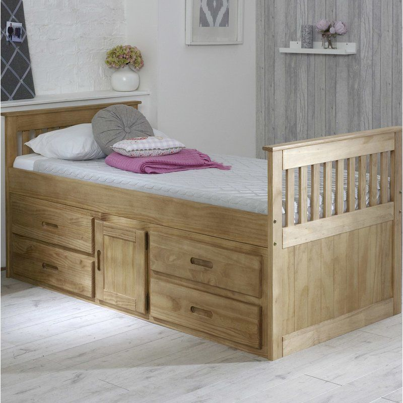 Captain Single Bed Frame With Drawers Single Bed Frame Wooden Bed With Storage Bed Storage