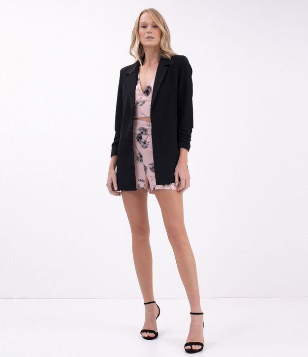 0a05f0cada Blazer feminino Modelo alongado Liso Marca Just Be Tecido alfaiataria  Composição  78%
