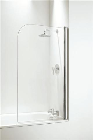 Coram White Curved Shower Bath Screen Chrome Over Batha Simple Classic Design You Also Have The Option Of Bath Screens Main Bathroom Ideas Bathroom Collections
