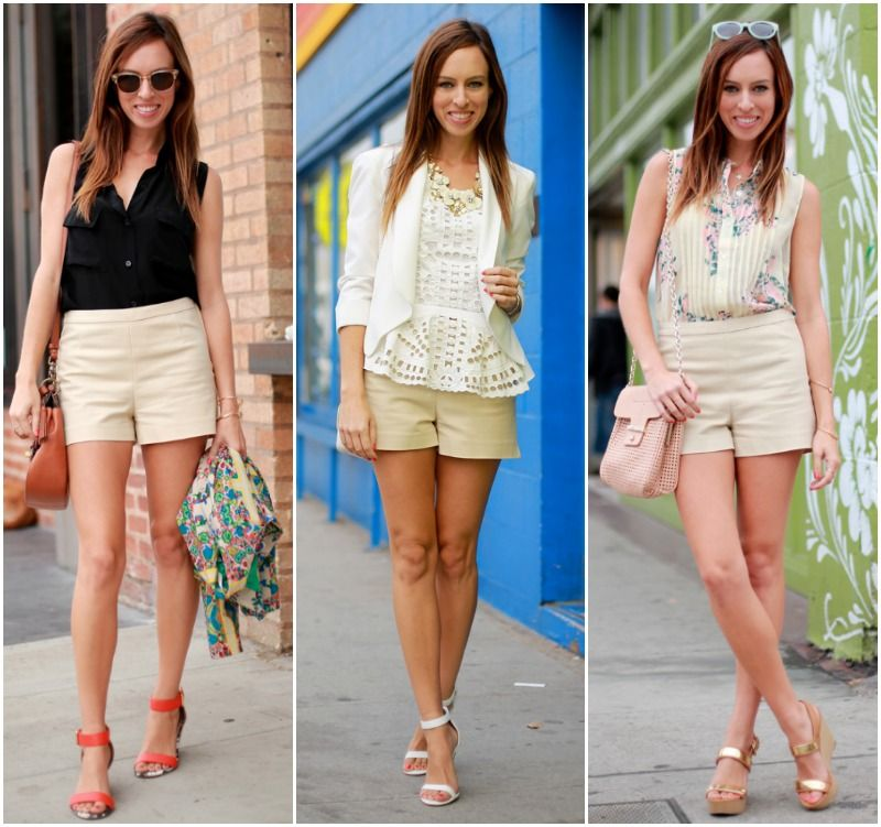 Sydne Style how to wear khaki shorts classic summer staple ...