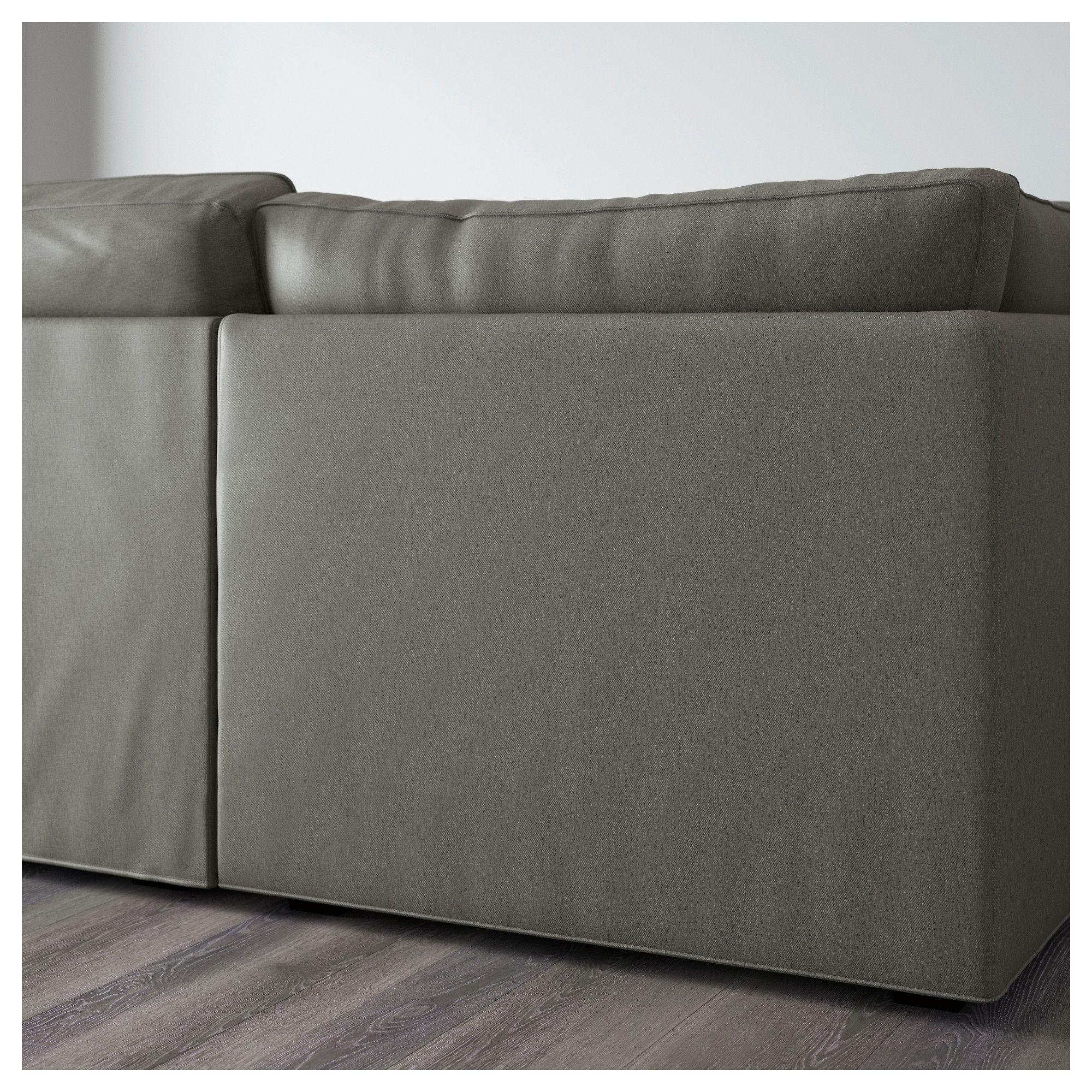 IKEA - KIVIK Sectional, 6-seat Borred 9-seater gray-green